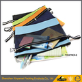 PVC clear mesh pencil/stationery bag/PVC Mesh Envelope Document Storage Zipper Bag A4 Size