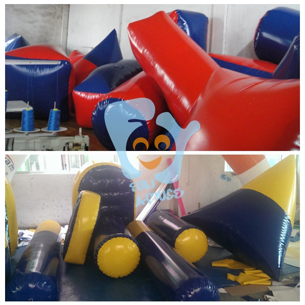 customize inflatable paintball bunkers air ball for rental