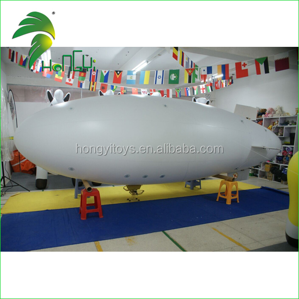 CE Remote Control Blimp / Hongyi Inflatable RC airship / inflatable blimp air ship zeppelin Advertising