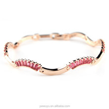 Colorful Rhinestone Rose Gold Bangles Women Bangladesh Jewelry