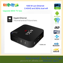 Free shipping android smart internet tv box with IR fly air mouse I8