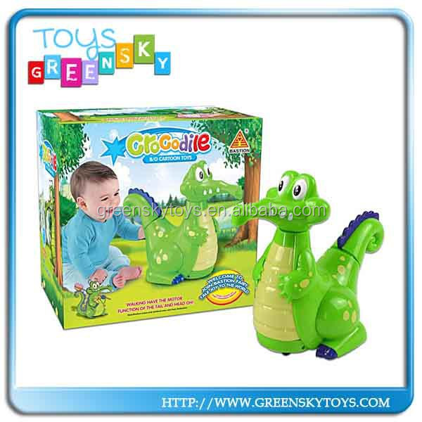 2014 hot sale plastic electric lovely cartoon crocodile toys for kids
