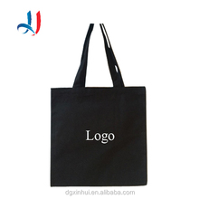 Natural Plain Black Customized Size Canvas Tote Shopping Bag Dust Bag with Logo Printing