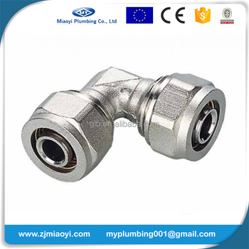 Brass Compression Fittings for Pex-Al-Pex Pipes - Elbow