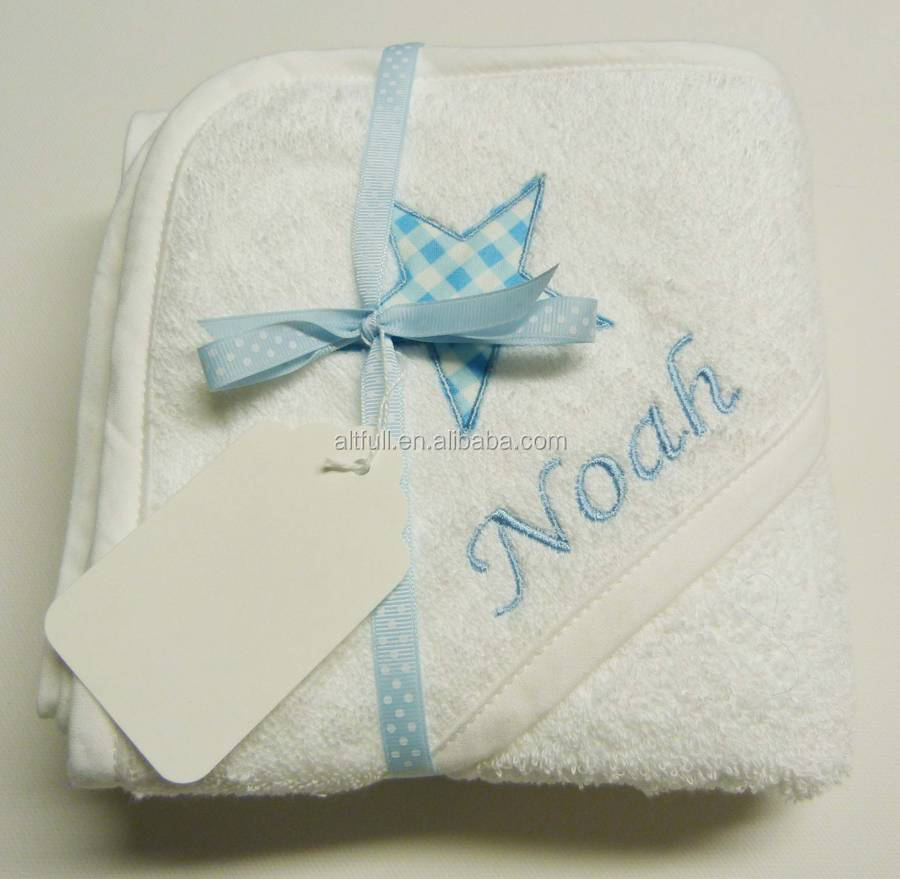 China supplier 100% organic Cotton Material and Embroidered Pattern baby bath towel,baby hooded beach towel high quality