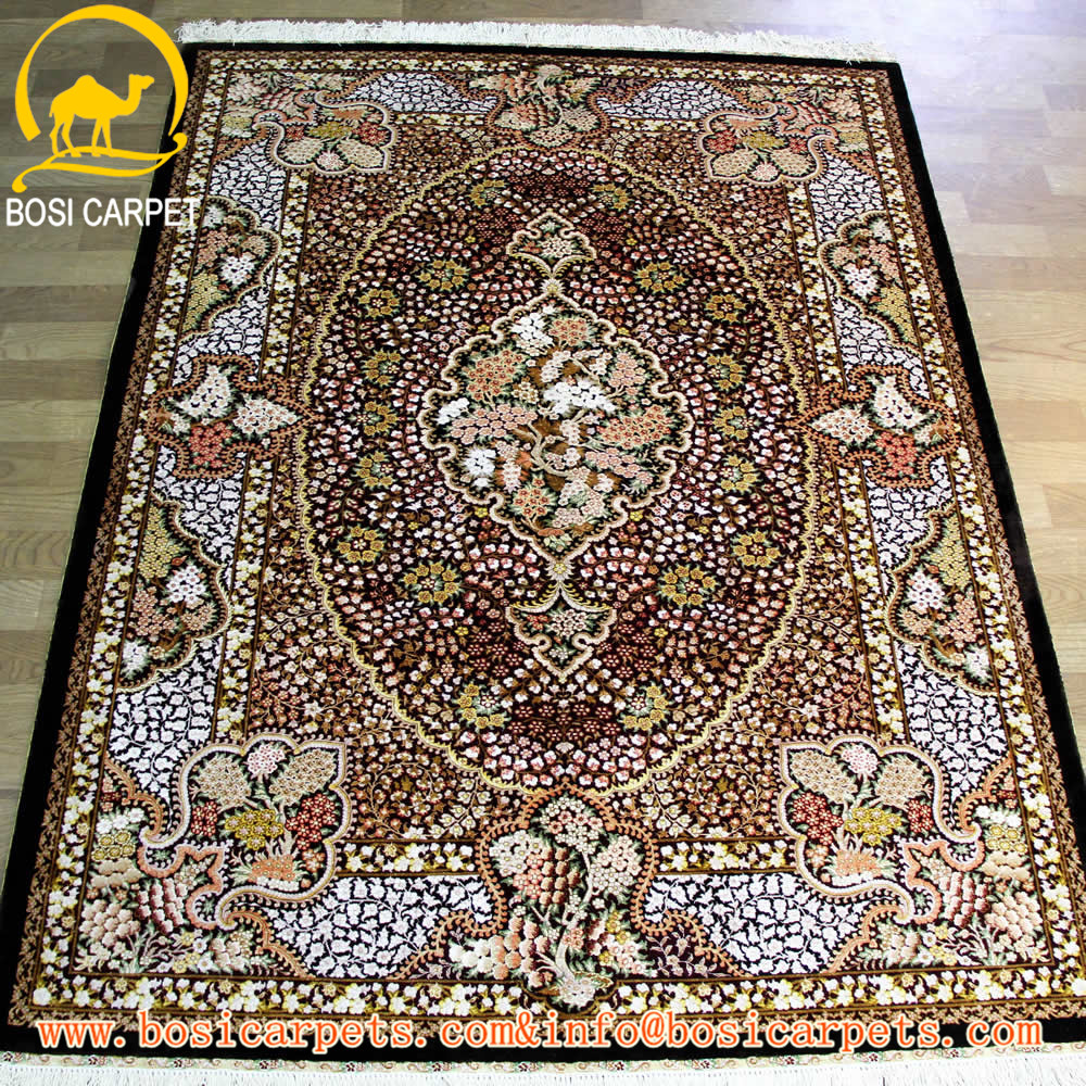 4.5x6.5ft indian carpet handmade persian silk rugs and carepts cheap factory prices islamic muslim prayer rug indian carpet