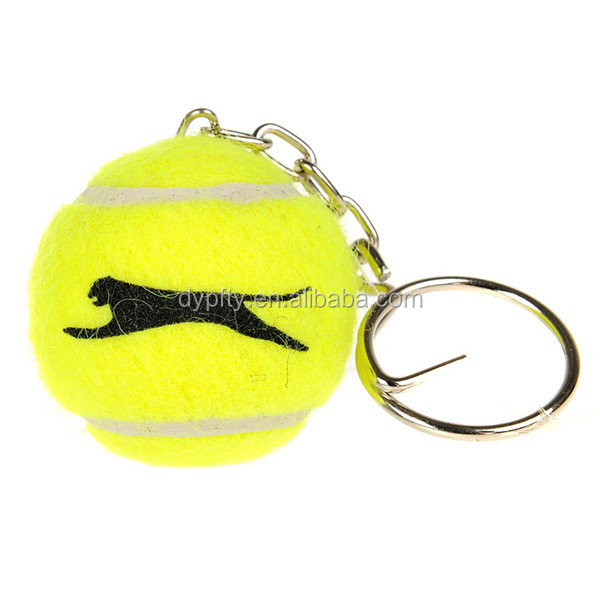 customer tennis ball keychain,tennis ball keychain