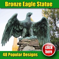 Maunfacture high quality marble eagle mascot statue