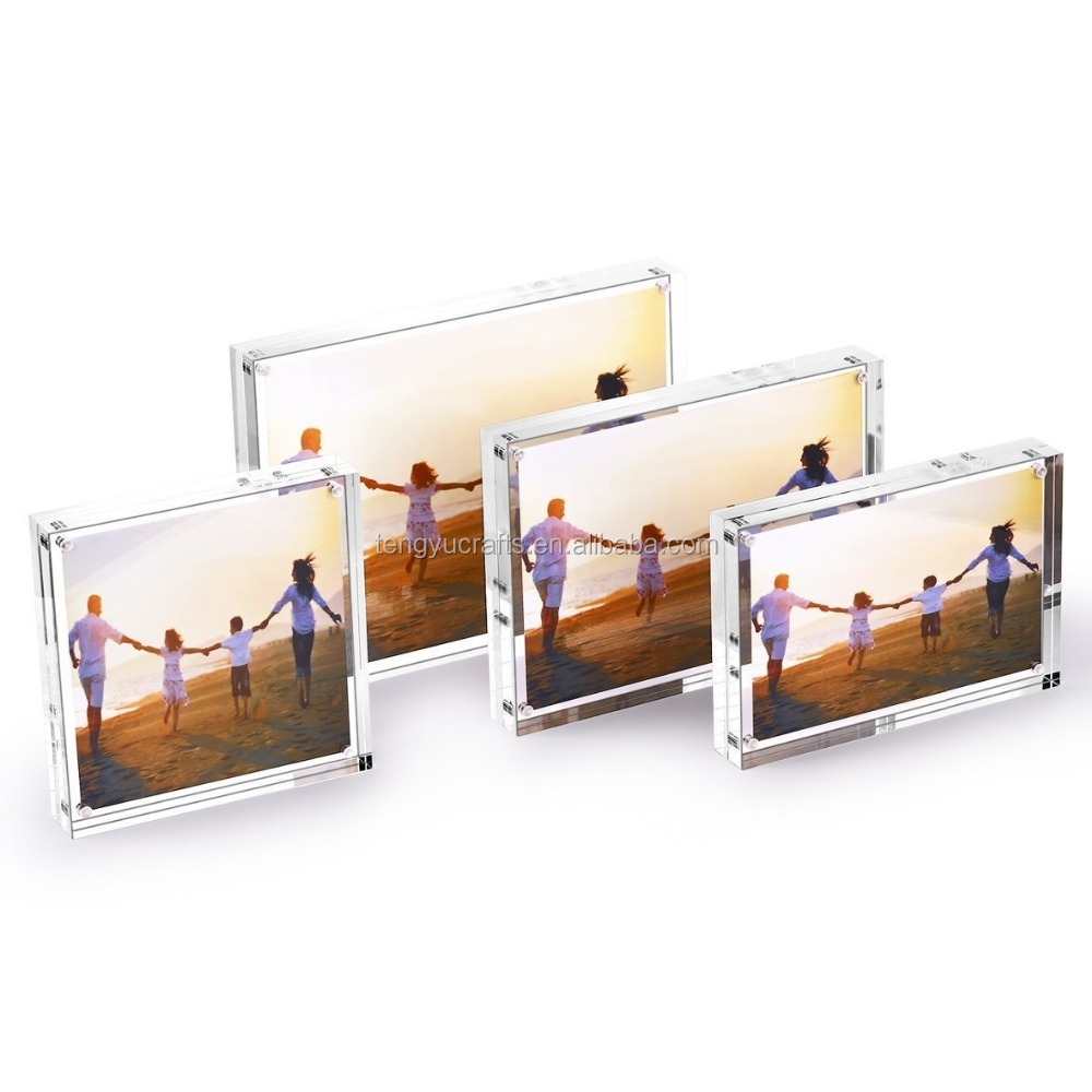 cheap China clear lucite display frame picture acrylic plexiglass magnet mini photo booth
