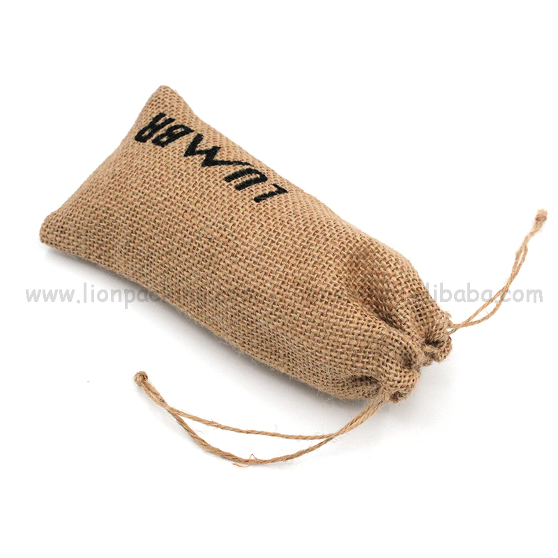 Cheap large importer of jute shopping drawstring bag/jute pouch for rice manufacturers