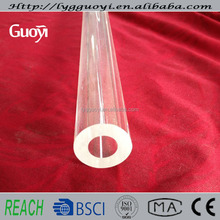 High purity pressure fused thick wall quartz glass tube tubing