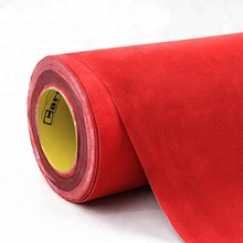 Red Carbins Film Wrap for Car Anterior Roof Truck Van Velvet Fabric With Self Adhesive