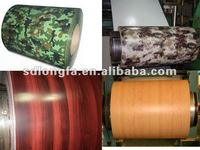colorful wood pattern coated metal roofing tile in china