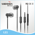 High Quality Metal Earphone with Microphone In Ear Earbuds (Wennda L11)