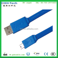 TOP Quality data transmission AM to Mini Flat USB Cable 2.0