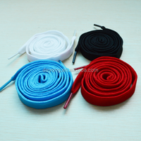 Factory Production Quality Double Layer Polyester Flat Shoelaces