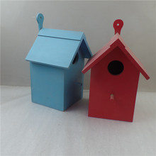 Wooden small wood bird pet cage house