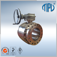 Flange Welding Trunnion Mounted Stainless Steel Ball Valve