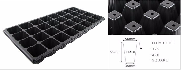 Hot Sale Good Quality 32 Cell PS Material Plastic Seed Tray For Nursery