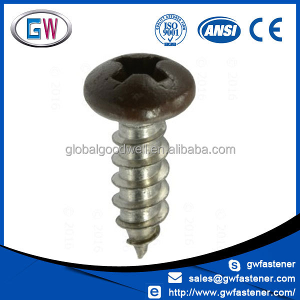 Pan head ss304 ss316 philips head screw