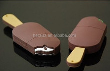 Custom moulded unique usb drive,premium gift usb stick,2014 hot sale ice cream shape usb flash drive