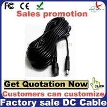 5.5*2.1mm male to female 12v 24v dc power cable for CCTV camera with LED power cable