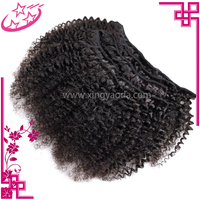 Good Selling Kinky Straight Chinese 200 grams Clip In Hair Extensions