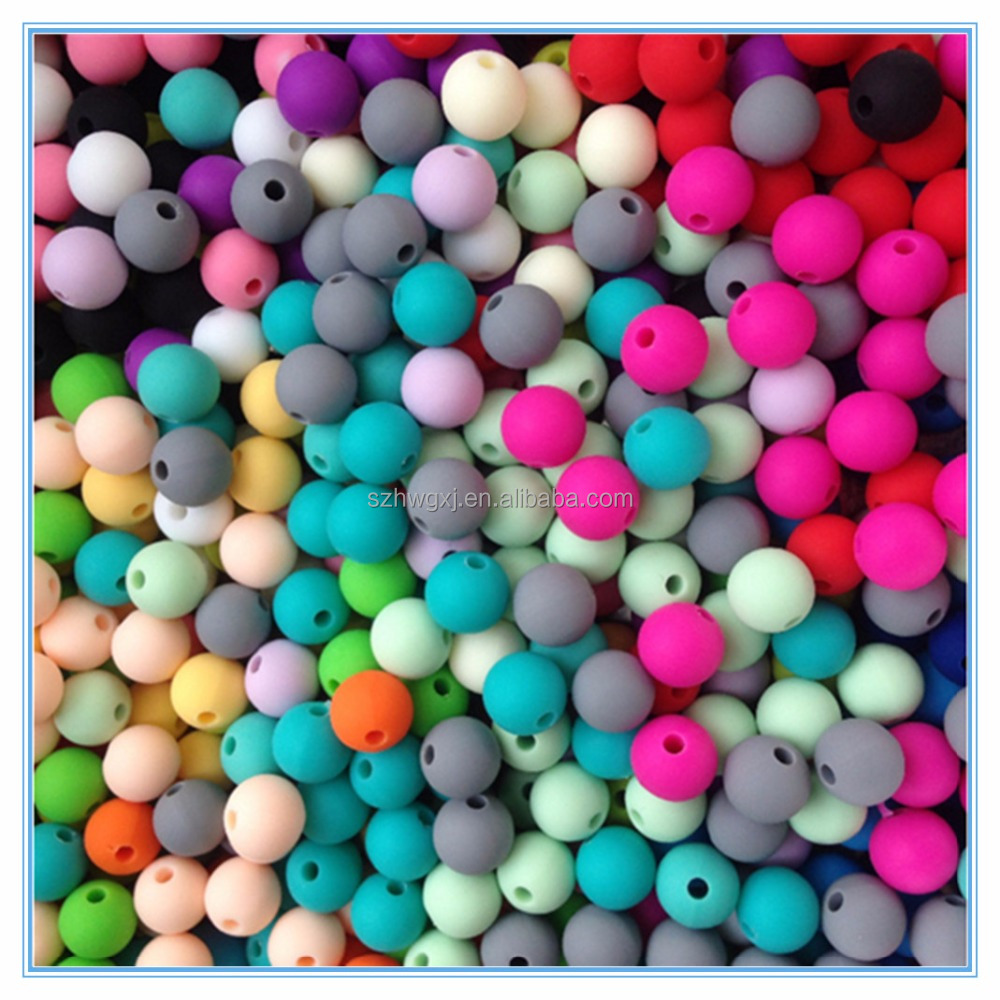 Factory wholesale food grade silicone teething beads bulk