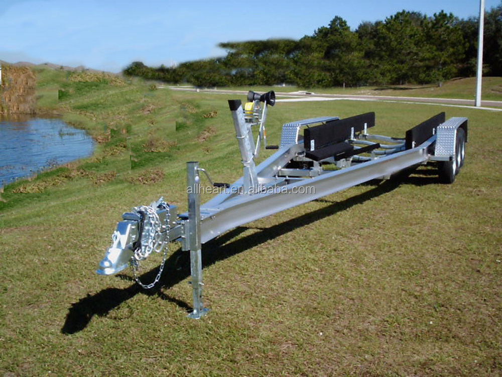 two axle aluminum boat trailer with brake