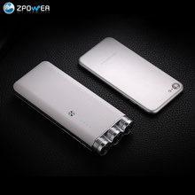 Mobile phones all brands led flashlight long lasting small size power bank 10000mah