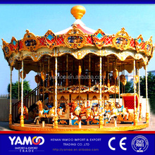 Happy Chrismas kids game carnival rides luxury double deck carousel for sale