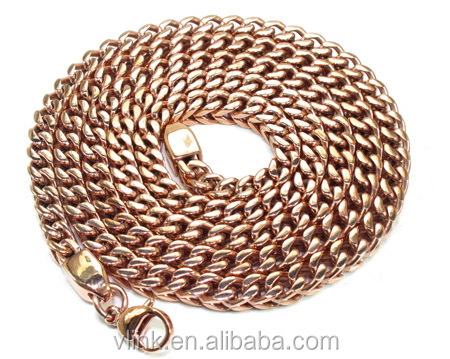 Rose Gold Plated Jewelry Stainless Steel Wallet Chain