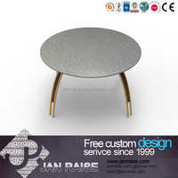House use european classic glass top coffee table design wooden tea table