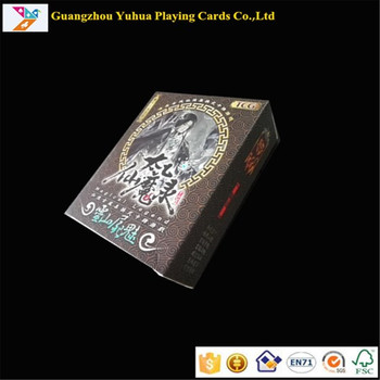 Factory supplier free sample glossy lamination wholesale high quality board game cards YH185