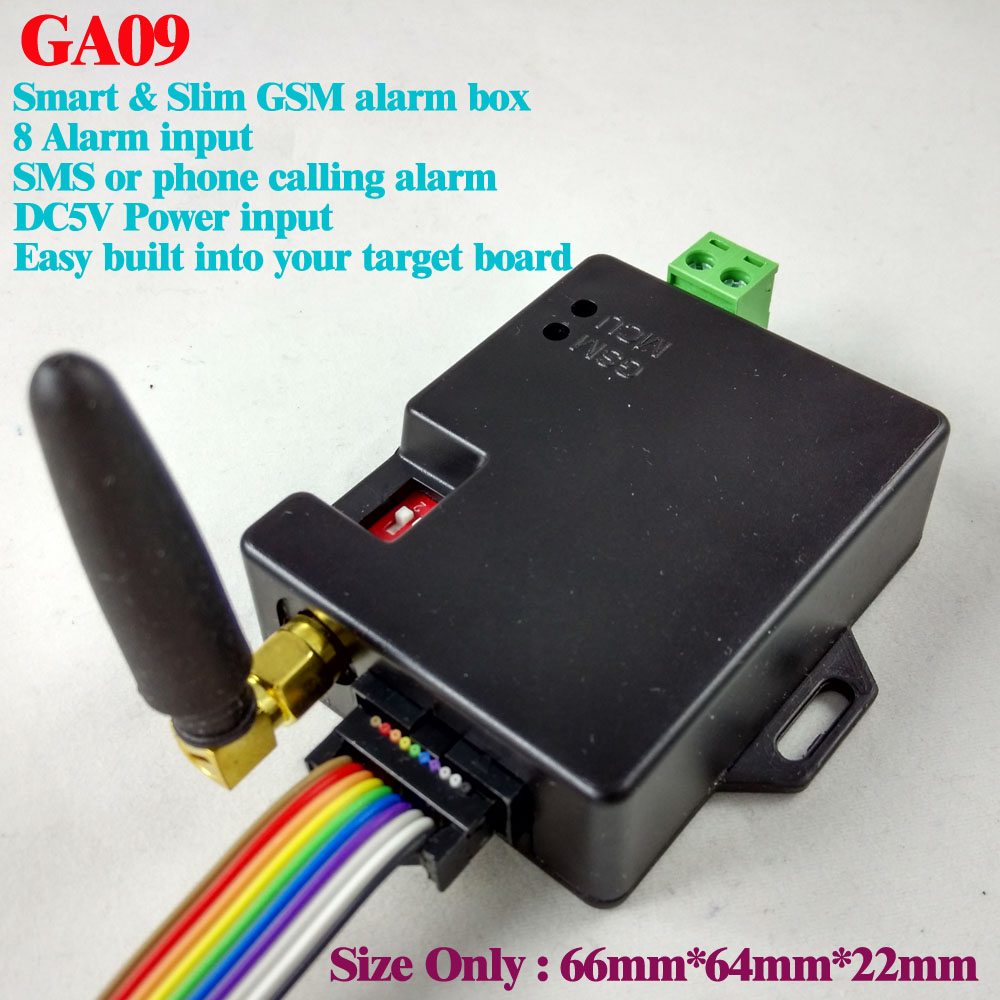 8 channel GA09 Super small GSM Alarm Systems SMS Alarms home Security System