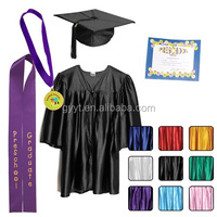 customized Childrens graduation gowns preschool (age 3-5) and matching cap (shiny look)