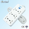 Fashion white 10A 2500W 6 outlet extension power strip GT-6189