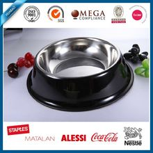 black stainless steel201 dog and pet bowl with different size