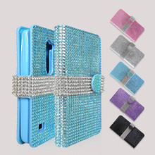 Top Selling In Alibaba Rhinestone Cell Phone Cases for LG K10, Flip Cover for LG K10