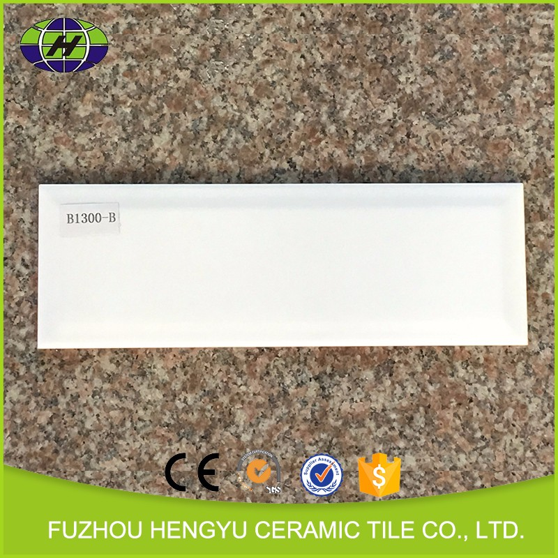 New design waterproof glossy white kitchen wall tile,white subway tile