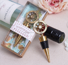 "Wedding Souvenirs ""Our Adventure Begins"" Campass Wine Bottle Stopper"