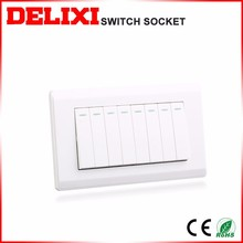 5-year warranty time 5 gang 1 way wall switch