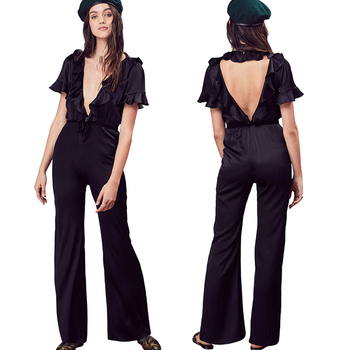 New Fashion Black Sexy Jumpsuit For Women