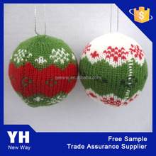 2016 New arts and crafts acrylic material knitted home decoration Christmas ball