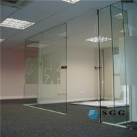 Best design toughened & laminated safety glass for office partition