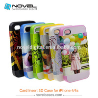 3D Card Insert Phone case for iPhone4/4s