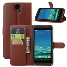 Litchi PU Card Holder Wallet Flip Leather Case For HTC One E9+ /One E9 Plus