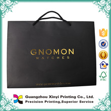 Promotional activity for new deisgn black artpaper paper bag for wholesale