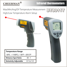 digital Thermometer DT8011T (-50C to 1100C) multi function Laser IR thermometer, high temperature gauge