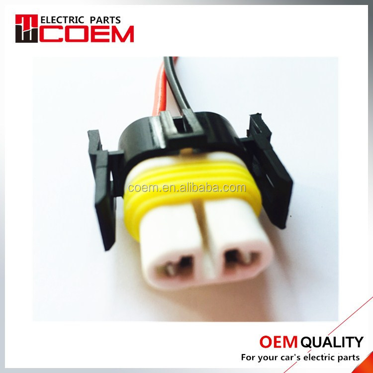 H11 ceramic two socket 2 core two hole vehicle connector with wirer Terminal containing Air docking